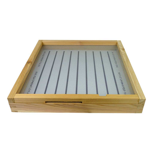 B.S. National Open Mesh Floor With Drawer And Entrance Block, Assembled, Cedar - Bee Equipment