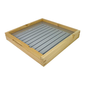 B.S. National Open Mesh Floor With Drawer And Entrance Block, Flat, Cedar - Bee Equipment