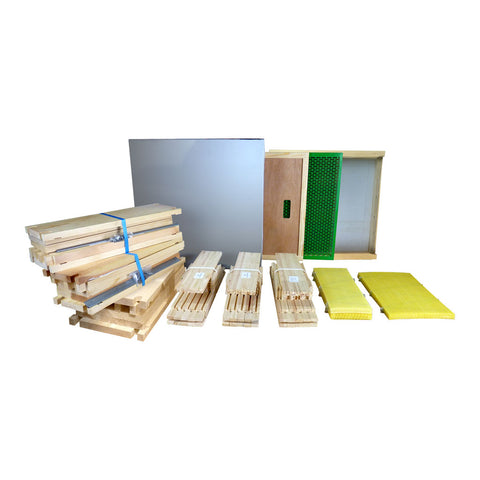 B.S. National Complete Hive Kit, Flat, Pine, With Premium Wax Foundation - Bee Equipment