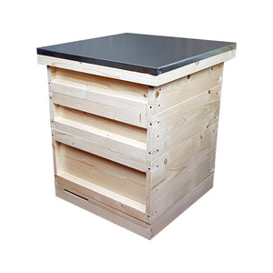 National Hive Kit, Flat, Pine, Shallow Roof