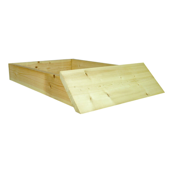 B.S. National Sloping Hive Stand, Flat, Pine