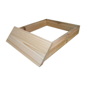 B.S. National Sloping Hive Stand, Flat, Cedar - Bee Equipment