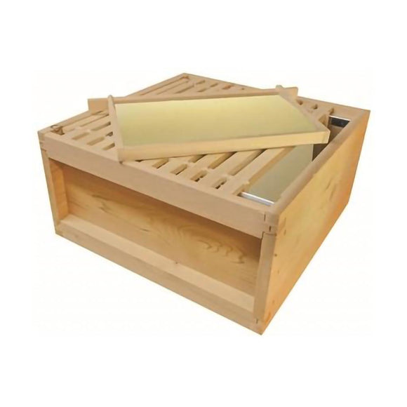 Pre-order:  National Brood Box, Assembled, With Premium Wax Foundation, 2nd Grade Pine