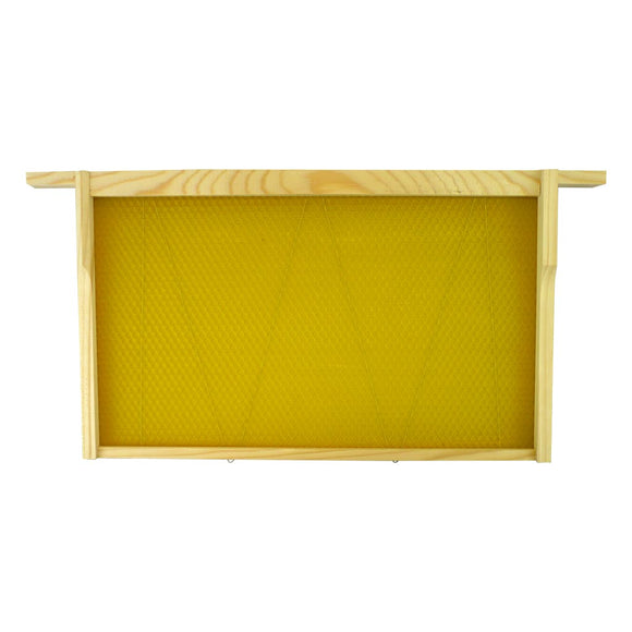 B.S. National Brood Frame, Assembled, With Premium Wax Foundation - Bee Equipment
