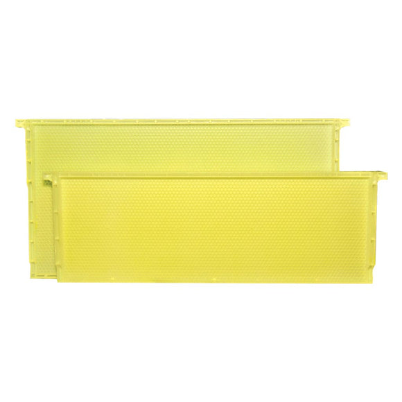 Langstroth Brood Standard Plastic Frame, Yellow, Single
