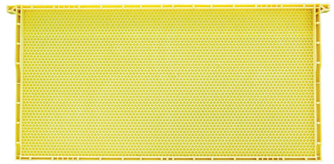 Langstroth Brood Standard Plastic Frame, Yellow, No Wax, Single