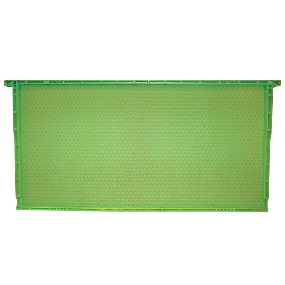 Langstroth Plastic Brood Frame Drone Comb, Waxed