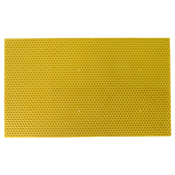 B.S. National Brood, Beeswax Coated Plastic Foundation, Yellow - Bee Equipment