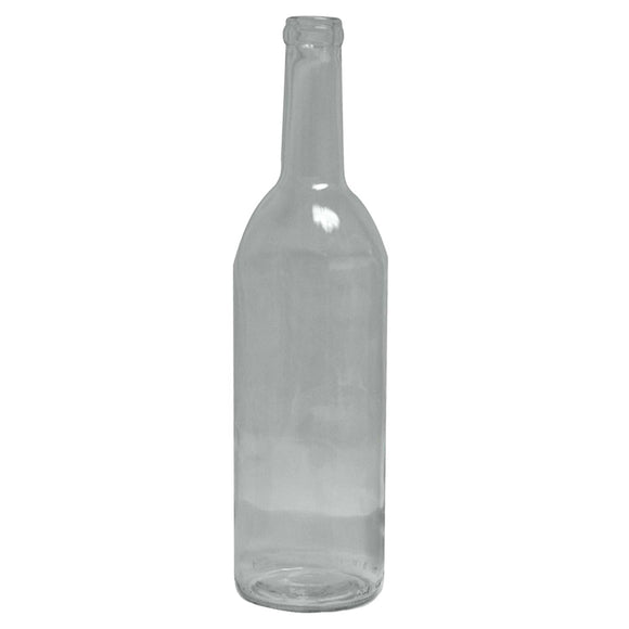 750ml Wine Bottle, Clear, 12 Pack - Bee Equipment