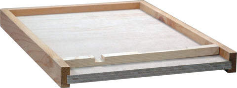 8 Frame Langstroth Solid Floor With Entrance Block - Bee Equipment