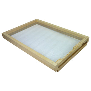 8 Frame Langstroth Screened Floor with Entrance Block. Pine - Bee Equipment