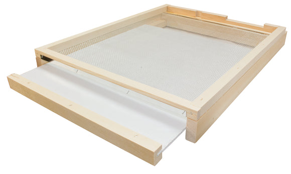 8 Frame Langstroth Screened Floor and Drawer With Entrance Block - Bee Equipment