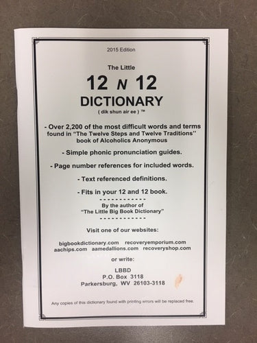 12 N 12 Dictionary Large Print