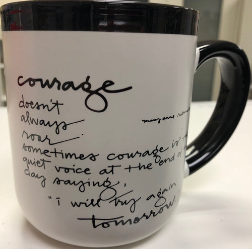 Black/White Courage Mug