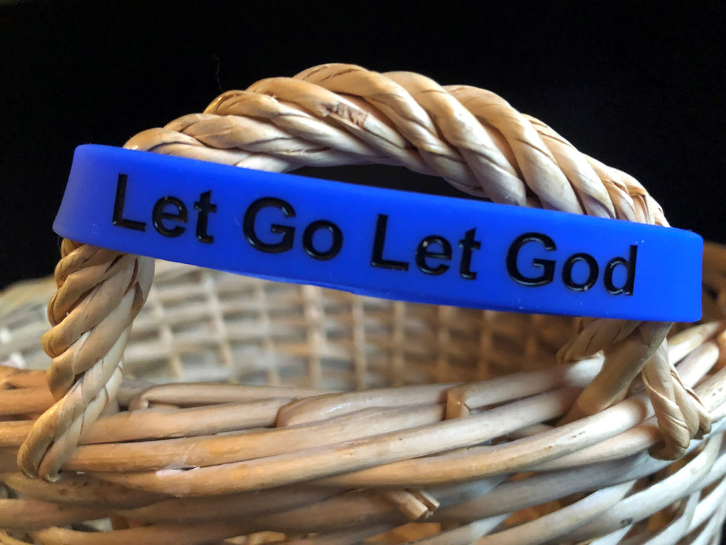 Wristband, Let Go Let God Blue