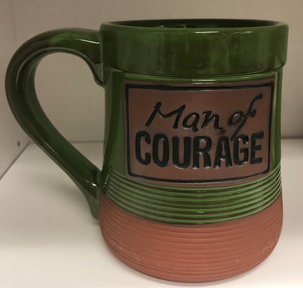 Man of Courage Pottery Mug