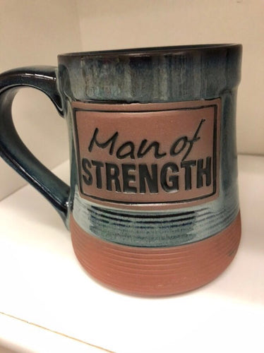 Man Of Strength Pottery Mug, Boxed