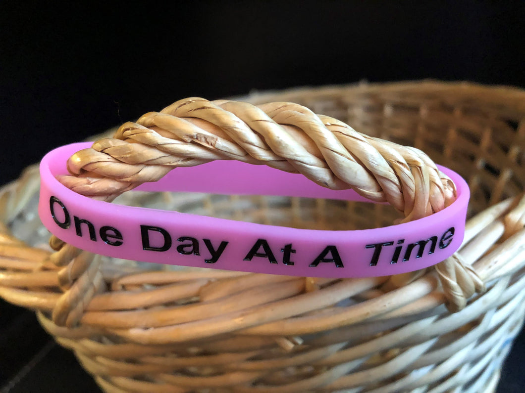 Wristband, To Thine Own Self -  Pink