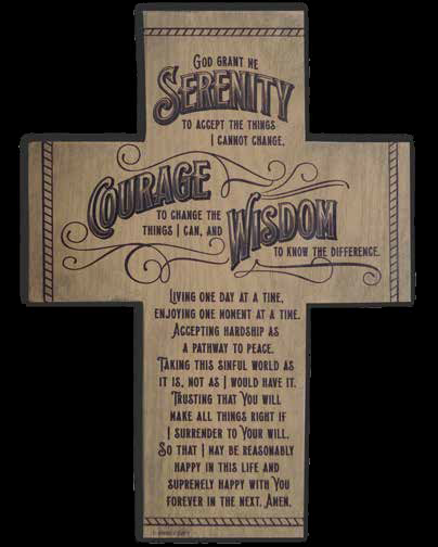 Serenity Prayer Standing Cross