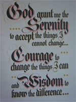 Poster, AA Serenity Prayer