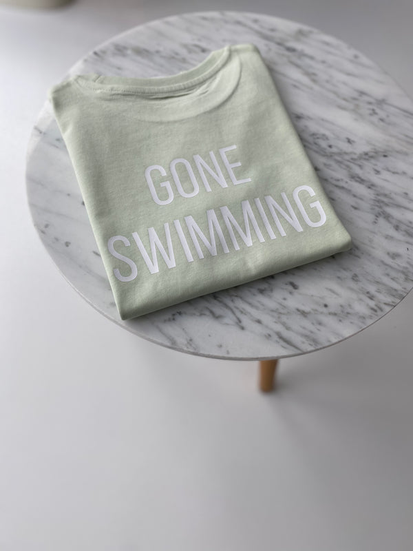 Gone swimming
