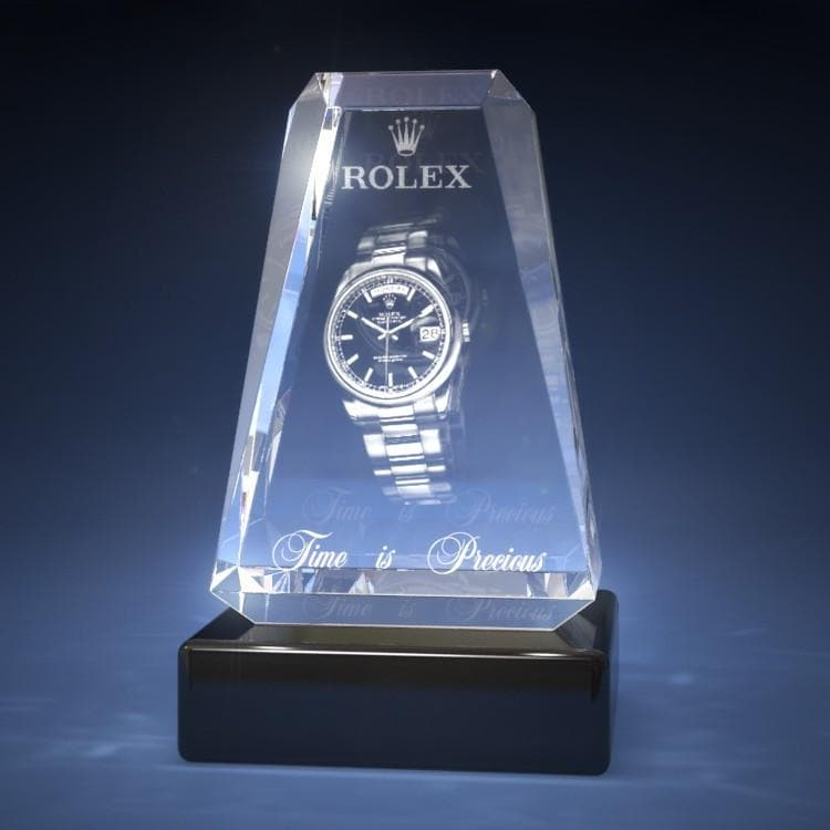 Corporate Award - Cathedral Crystal 3D Gifts