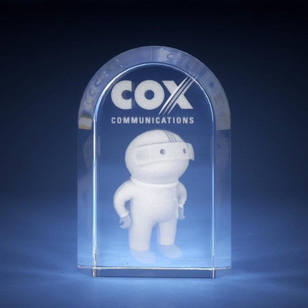 Corporate Award - Cut Dome Crystal 3D Gifts