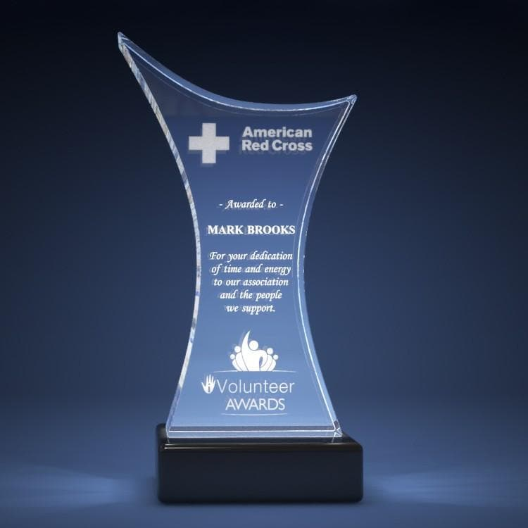 Corporate Award - Trophy Crystal 3D Gifts