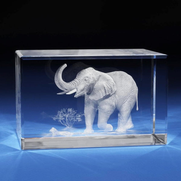 Elephant Crystal 3D Gifts