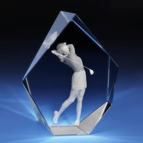 Golf (F) Crystal 3D Gifts