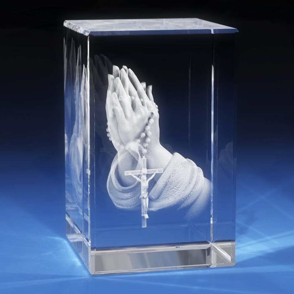 Praying Hands Crystal 3D Gifts