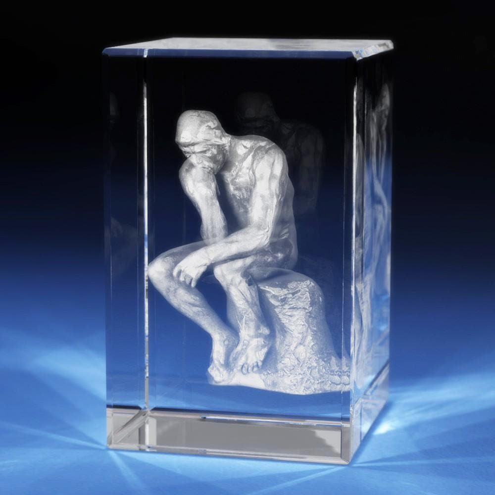 The Thinker Crystal 3D Gifts