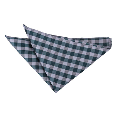 Gingham Check Turquoise Handkerchief / Pocket Square