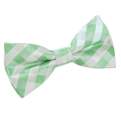 Gingham Check Mint Green Bow Tie