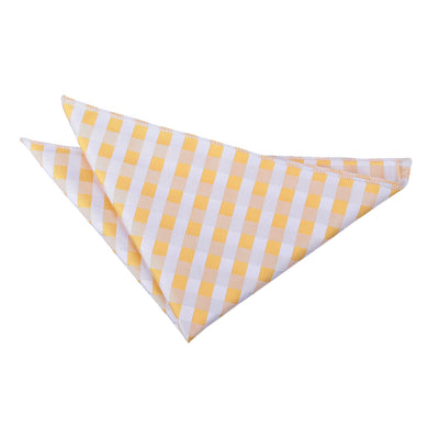 Gingham Check Sunflower Gold Handkerchief / Pocket Square