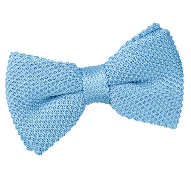 Knitted Baby Blue Bow Tie