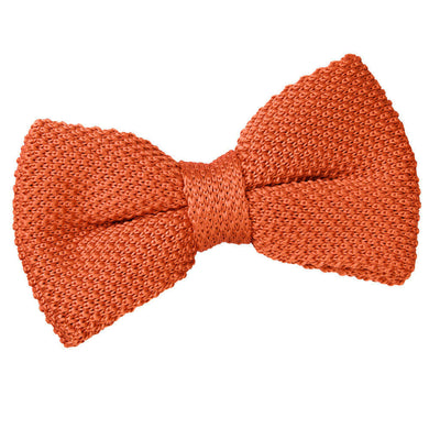 Knitted Burnt Orange Bow Tie