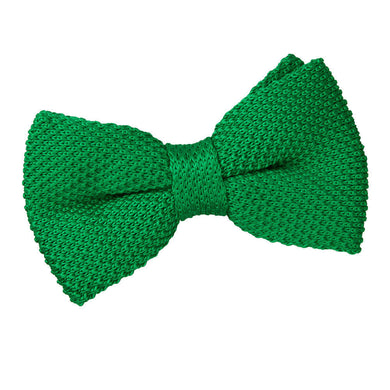 Knitted Forest Green Bow Tie