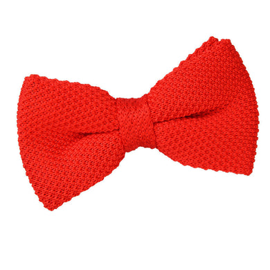 Knitted Red Bow Tie