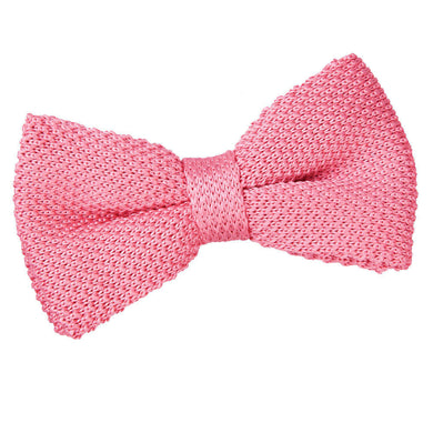 Knitted Strawberry Pink Bow Tie