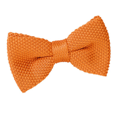 Knitted Tangerine Bow Tie