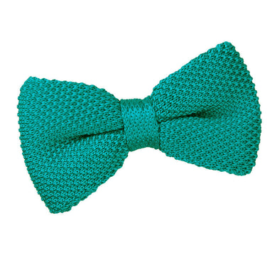 Knitted Teal Bow Tie