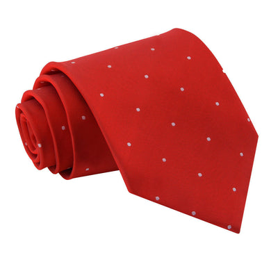 Pin Dot Dark Red Tie