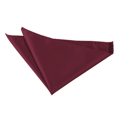 Solid Check Burgundy Handkerchief / Pocket Square