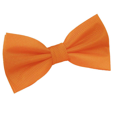 Solid Check Celosia Orange Bow Tie