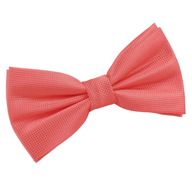 Solid Check Coral Bow Tie