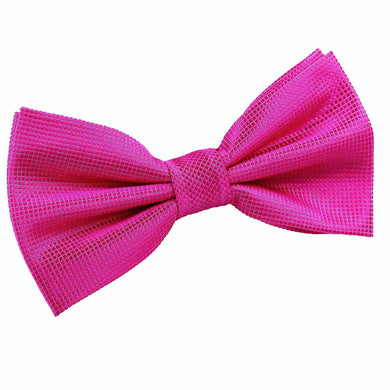 Solid Check Fuchsia Pink Bow Tie