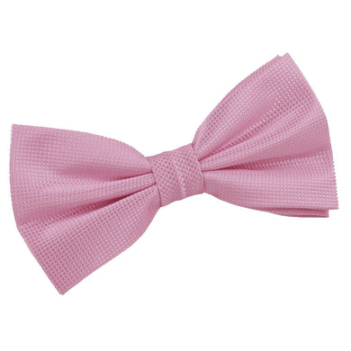 Solid Check Light Pink Bow Tie