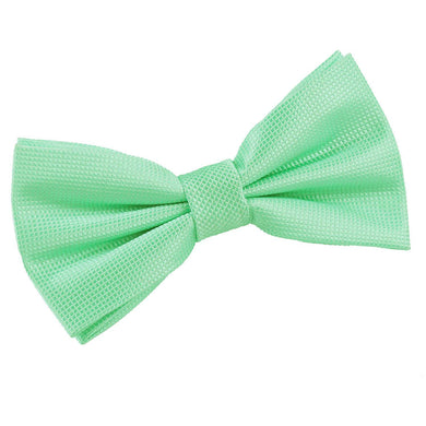 Solid Check Mint Green Bow Tie