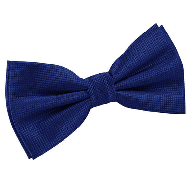 Solid Check Royal Blue Bow Tie